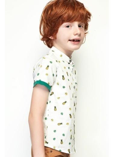 Nebbati Erkek Çocuk Desenli Gömlek 19SS0NB3601 Renkli